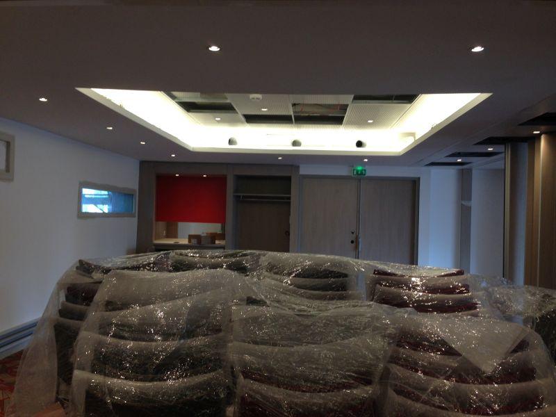 raccordement faux plafond